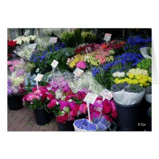 Cartão Flores para a venda, S Cyr