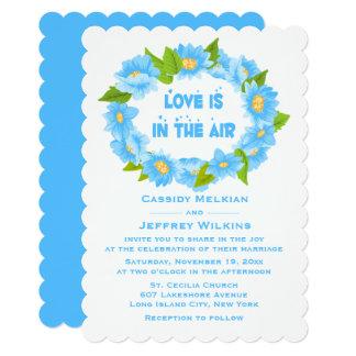 Cartão Flores para casamentos azuis florais de turquesa -