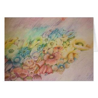 Cartão Flores Pastel