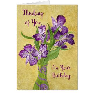 Cartão Flores roxas