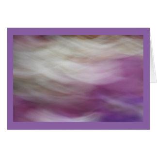 Cartão Flores roxas e brancas