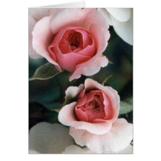 Cartão Flores tornando-se dos botões