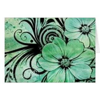 Cartão Flores verdes