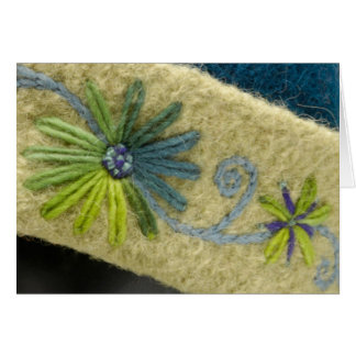 Cartão Flores & videira verdes