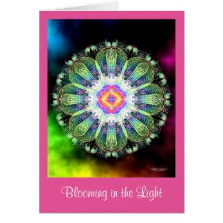 Cartão Florescência na luz