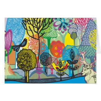 Cartão floresta abstrata