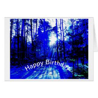 Cartão Floresta azul por Jane Howarth