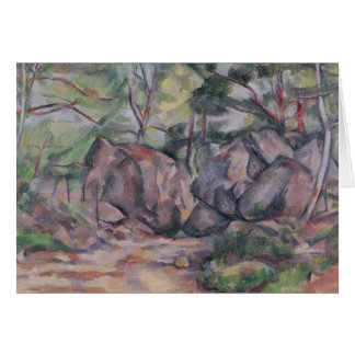 Cartão Floresta com pedregulhos, 1893