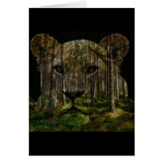 Cartão Floresta dentro de um tigre
