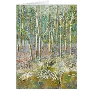Cartão floresta do inverno