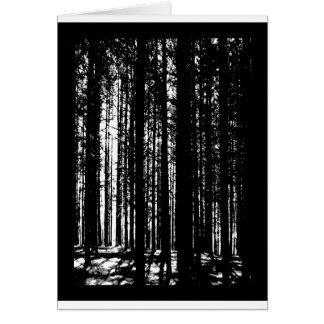 Cartão floresta do pinho