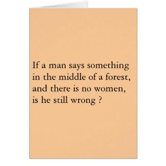 Cartão Floresta dos homens