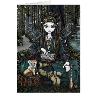 Cartão Floresta Dreadlocks boémio feericamente Zoti da
