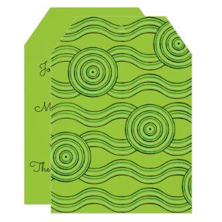 Cartão Floresta húmida aborígene da arte