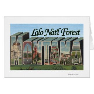 Cartão Floresta nacional de Lolo, Montana