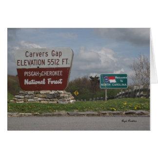 Cartão Floresta nacional Pisgah-Cherokee TN NC de Gap dos
