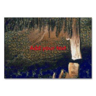 Cartão Floresta que flutua em reservas de água
