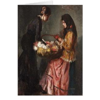 Cartão Florista do camponês