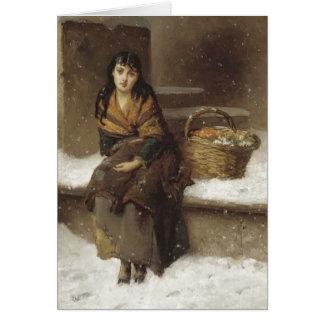 Cartão Florista em Brown