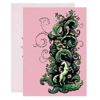Cartão Flourish do unicórnio