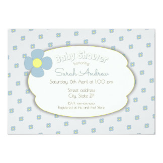 Cartão Flower baby shower invitation