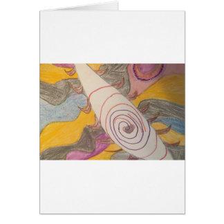 Cartão Flutuação no vácuo do arco-íris