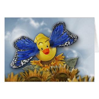 Cartão Flutuador como uma borboleta!