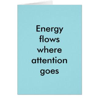 Cartão Fluxos de energia onde a atenção vai