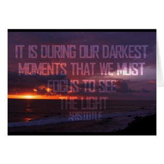 Cartão Focalize para ver a luz Aristotle