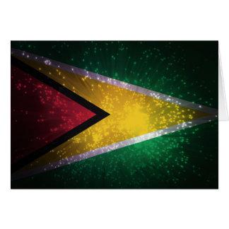 Cartão Fogo-de-artifício; Bandeira de Guyana