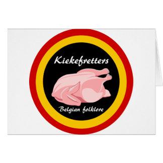 Cartão Folclore do belga de Kiekefretters