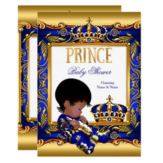 Cartão Folha azul do afro-americano do ouro do príncipe