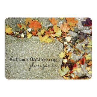 Cartão Folha colorida da colheita da queda das folhas de