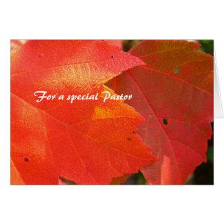 Cartão Folha da apreciação do pastor
