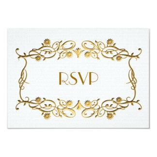 Cartão Folha de ouro branco francesa do marfim do art