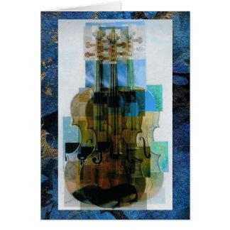 Cartão Folha de prova compor triplicar-se do violino