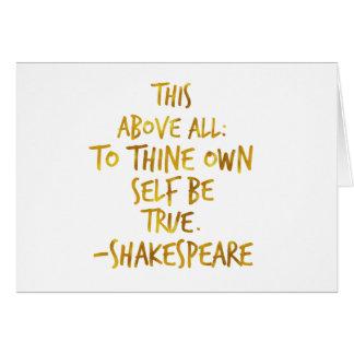 Cartão Folha inspirador do falso do ouro das citações de