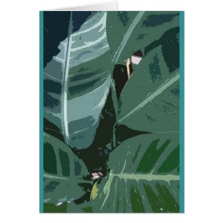 Cartão Folha tropical