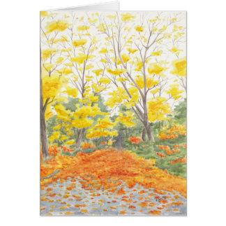 Cartão Folhagem de outono em Adlershof