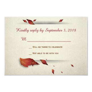 Cartão Folhas da queda