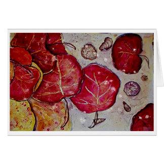 Cartão Folhas da uva do mar de Sanibel