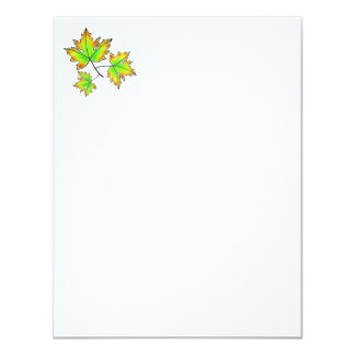 Cartão Folhas de bordo