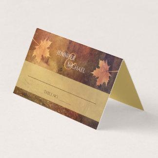 Cartão folhas de bordo da fuga do outono que wedding a