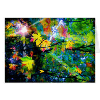 Cartão Folhas de setembro