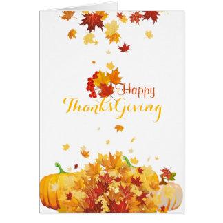 Cartão Folhas e abóboras de queda do outono da acção de