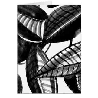 Cartão Folhas preto e branco