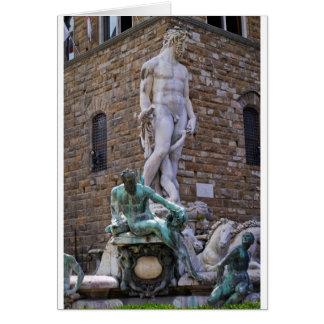Cartão Fonte de Netuno Florença Italia