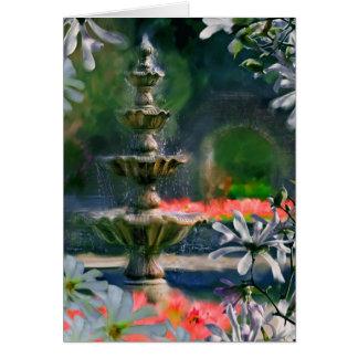 Cartão fonte nas flores