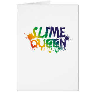 Cartão Fontes do fazer do limo da rainha do limo