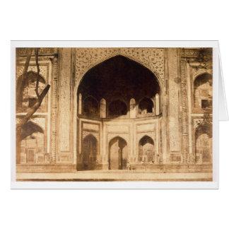 Cartão Fora do Taj Mahal, ilustrado provavelmente 'no pH